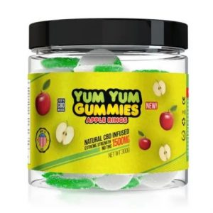 Yum Yum Gummies 1500mg – CBD Infused Apple Rings